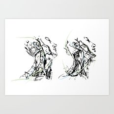 head and neck Art Print