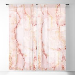 Pink Marble Abstract Blackout Curtain