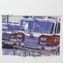 Those Wonderful Fire Trucks Wall Hanging