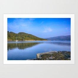 Salen Bay Loch Sunart Art Print