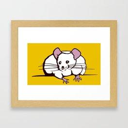Fat mouse Framed Art Print