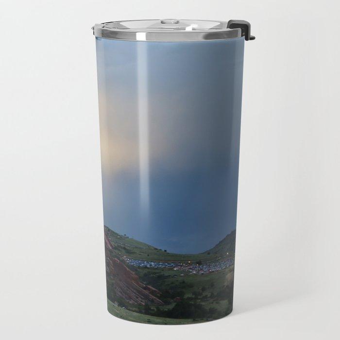 Red Rocks at Dusk Travel Mug