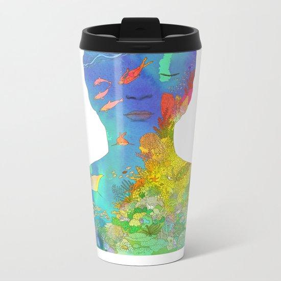 Ocean Thoughts Metal Travel Mug