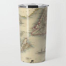 Map of Newfoundland 1851 Travel Mug