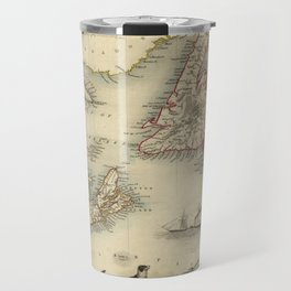 Map of Newfoundland 1851 Travel Mug