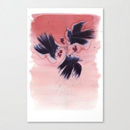 Ombre Ravens Canvas Print