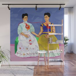 The two Fridas Wall Mural