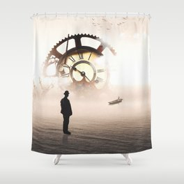 Time and Eternity Gates Shower Curtain