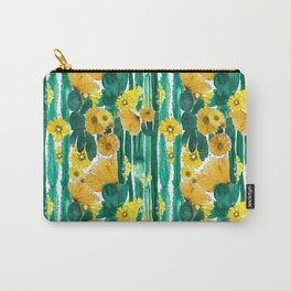 Marcia (Flowering Cactus) Carry-All Pouch