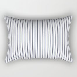 Dark Sargasso Blue Mattress Ticking Narrow Striped Pattern - Fall Fashion 2018 Rectangular Pillow
