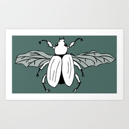 It's a beetle and it has wings. Art Print