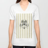 chandelier V-neck T-shirts featuring Chandelier shade  by Huda Mulla