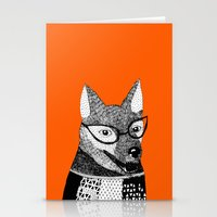 mr fox Stationery Cards featuring Mr. Fox by yellow pony