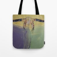 bull Tote Bags featuring Bull by Michael Creese