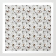 Spiders Galore Art Print