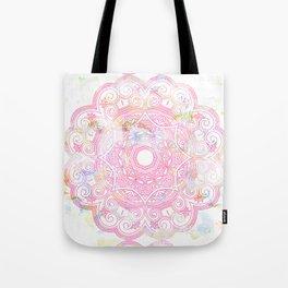 Pastel pink mandala ornament design Tote Bag