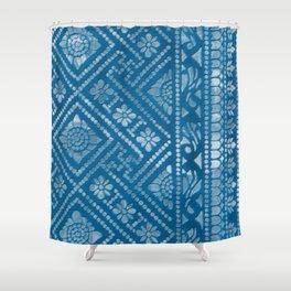 Blue Burnout 3... Shower Curtain