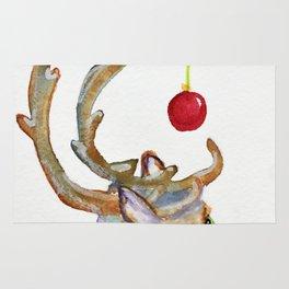 Frosty Goofy Reindeer Rug