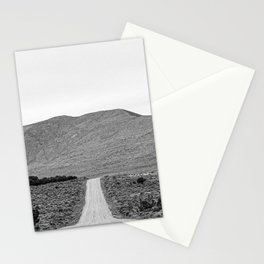 Road Outta Town // Black and White Landscape Photograph Going Out to Nowhere Peaceful Scenery Stationery Cards