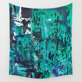 Pthalo Dance Wall Tapestry