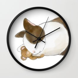 Bunny and Teddy Wall Clock