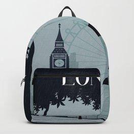 London vintage poster travel Backpack
