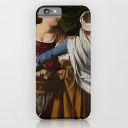 Orazio Gentileschi. Judith and her maidservant with the Head of Holofernes, about 1608 iPhone Case