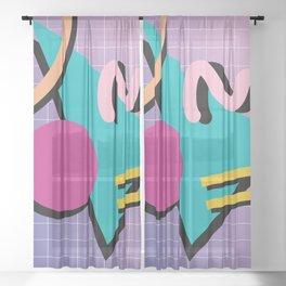 Memphis Pattern 10 - 90s - Retro Sheer Curtain