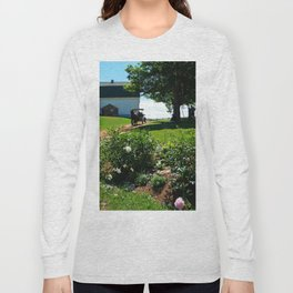 Horse Drawn Carriage on Farm in PEI Long Sleeve T-shirt