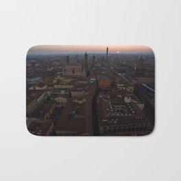 Bologna sunrise city aerial drone italy Bath Mat
