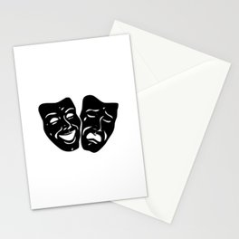 Theater Masks of Comedy and Tragedy Stationery Cards