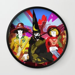 The Rolling Magicians Wall Clock