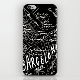 Barcelona, Spain Map iPhone Skin
