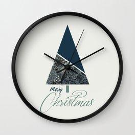 Blue Xmas #society6 #blue #xmas Wall Clock
