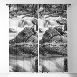 The power of a mountain river Blackout Curtain