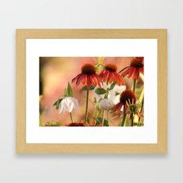 Dramatic flowers Framed Art Print