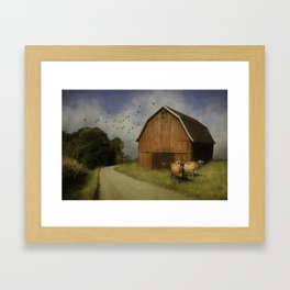 Minding our own beeswax Framed Art Print