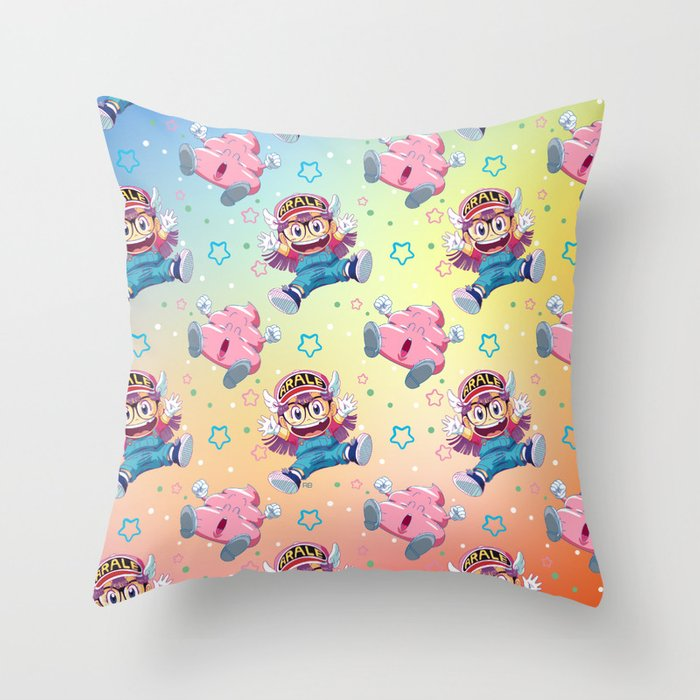 Arale's Pattern Throw Pillow