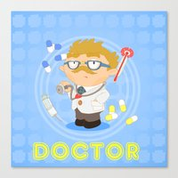 doctor Canvas Prints featuring Doctor by Alapapaju