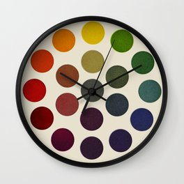 'Parsons' Spectrum Color Chart' 1912, Remake 2 (enhanced) Wall Clock