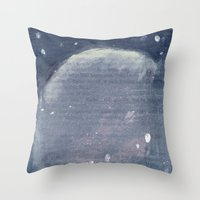 outer space Throw Pillows featuring Outer Space  by Amanda Powzukiewicz