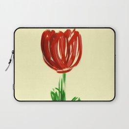 Single Rose on Soft Yellow Laptop Sleeve