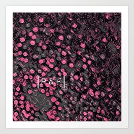 Philosopher & Fool - Fireworks (Pink & Grey Version) Art Print