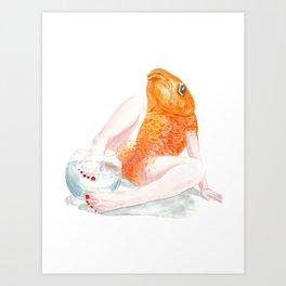 Undomesticated // Goldie Art Print
