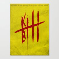 kill bill Canvas Prints featuring Kill Bill by Guillaume Vasseur