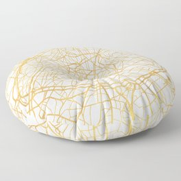 PARIS FRANCE CITY STREET MAP ART Floor Pillow