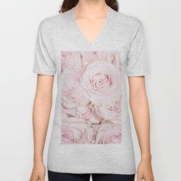 Roses have thorns - Floral Flower Pink Rose Flowers Unisex V-Neck
