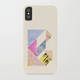 Collaged Tangram Alphabet - B iPhone Case