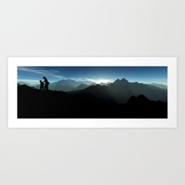 Sunrise Hiking Art Print