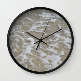 Foam of the ocean Wall Clock